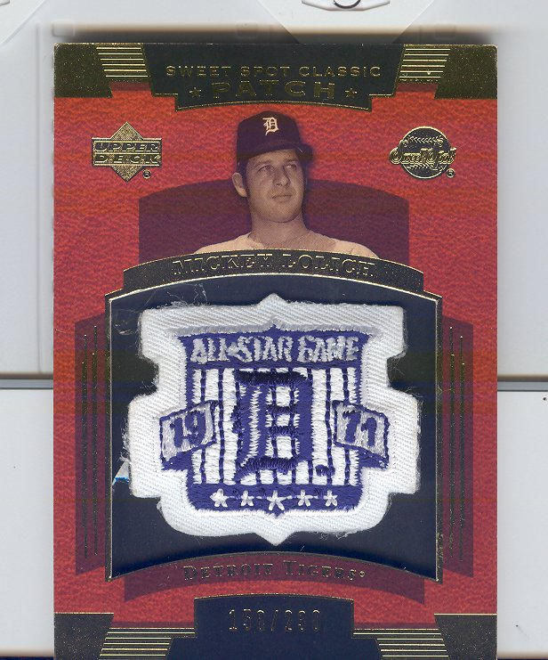 2004 Sweet Spot Classic Patch 230 #ML Mickey Lolich 71 AS