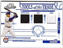 2005 Absolute Memorabilia Tools of the Trade Swatch Triple #25 Rafael Palmeiro FG-J-S/25