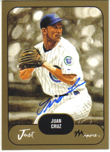 2002 Just Prospects Autographs Gold #9 Juan Cruz/300