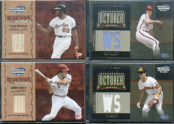 2004 Donruss World Series Legends of the Fall Material #13 Johnny Bench Bat/100