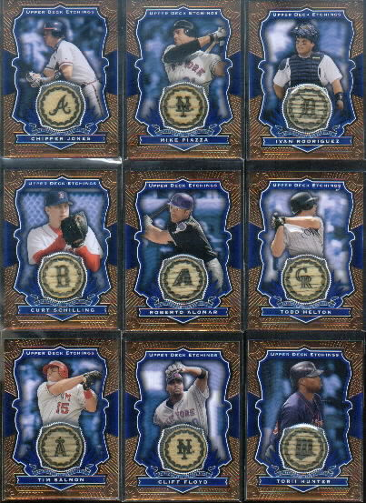 2004 Upper Deck Etchings Game Bat Blue #PI Mike Piazza