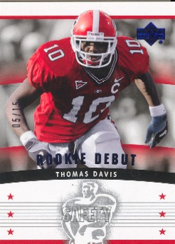 2005 Upper Deck Rookie Debut Blue #159 Thomas Davis