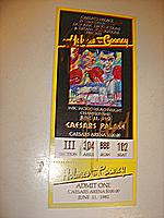 Larry Holmes and Gerry Cooney full ticket autographed by both