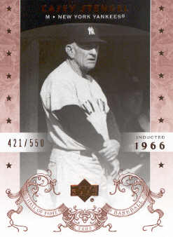 2005 Upper Deck Hall of Fame #13 Casey Stengel front image