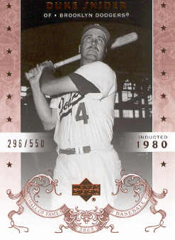 2005 Upper Deck Hall of Fame #20 Duke Snider