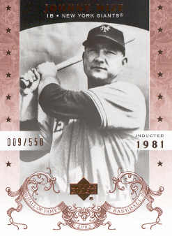 2005 Upper Deck Hall of Fame #42 Johnny Mize