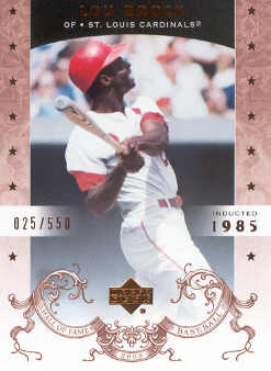 2005 Upper Deck Hall of Fame #48 Lou Brock