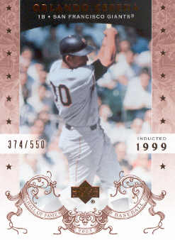 2005 Upper Deck Hall of Fame #53 Orlando Cepeda
