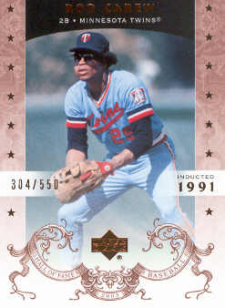 2005 Upper Deck Hall of Fame #66 Rod Carew