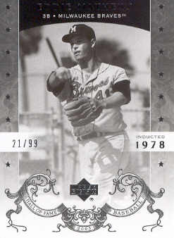 2005 Upper Deck Hall of Fame Silver #22 Eddie Mathews