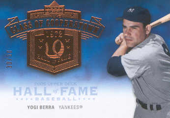 2005 Upper Deck Hall of Fame Class of Cooperstown #YB1 Yogi Berra Batting