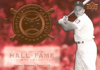 2005 Upper Deck Hall of Fame Cooperstown Calling #HK2 Harmon Killebrew Twins
