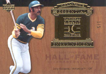 2005 Upper Deck Hall of Fame Essential Enshrinement Gold #BW2 Billy Williams A's