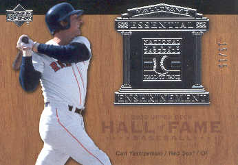 2005 Upper Deck Hall of Fame Essential Enshrinement Silver #CY3 C.Yastrzemski Sleeves