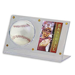 Ultra Pro Acrylic Ball & Card Holder