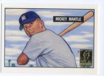 1996 Topps Mantle #1 Mickey Mantle 51 Bow