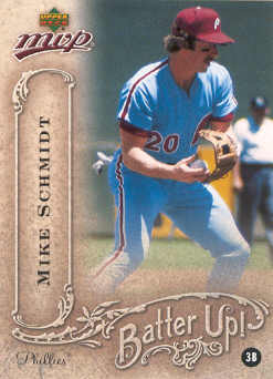 2005 Upper Deck MVP Batter Up! #24 Mike Schmidt