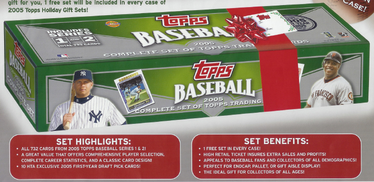2005 Topps Baseball Complete Factory Holiday Set (Green Box) - 732 card Bast Set + 10 First Year Draft Bonus cards including Ryan Zimmerman, Matt Garza & Matt Braun)