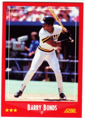 1988 Score #265 Barry Bonds