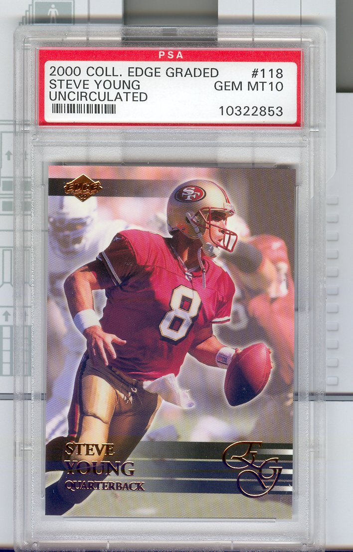 2000  Collector's Edge EG   #118  Steve Young  PSA Graded    GEM MT 10  Uncirculated  $30.00
