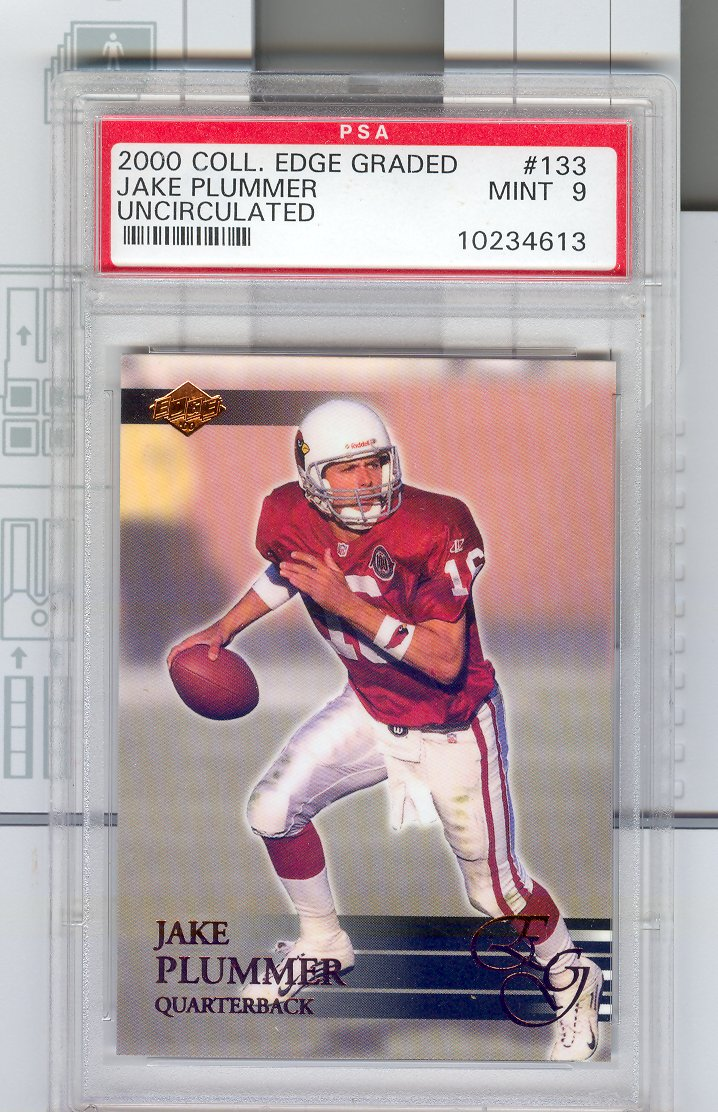 2000 Collector's Edge EG  #133  Jake  Plummer  PPA Graded Mint 9   Uncirculated $20.00