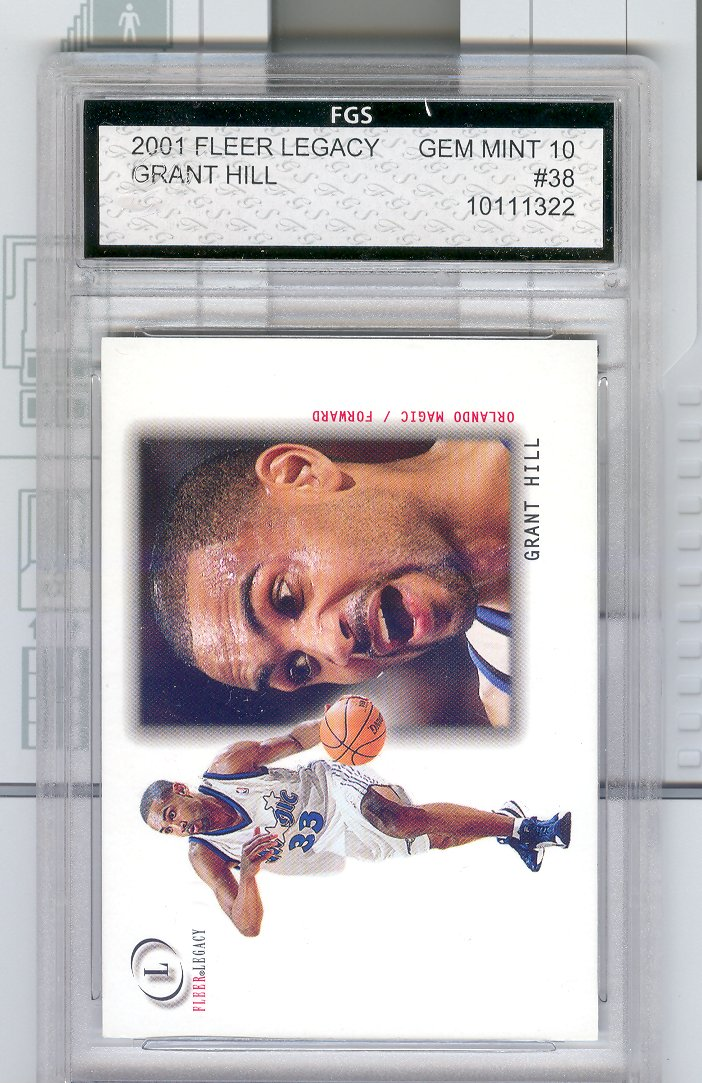 2001 Fleer Legacy #38 Grant Hill   FGS Graded GEM MINT 10   $30.00