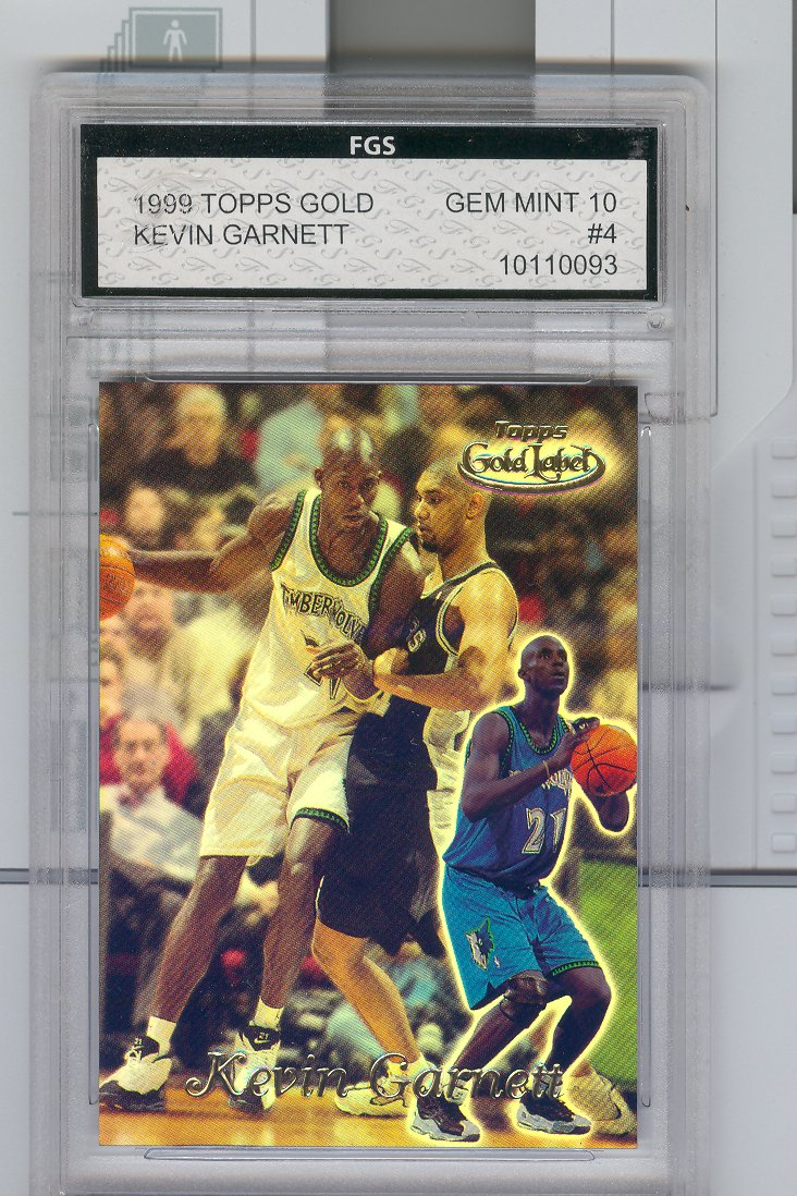 1999 Topps Gold Label #4  Kevin Garnett  Graded FGS  GEM MINT  10  $30.00