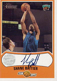 2001-02 Topps Heritage Autographs #11 Shane Battier