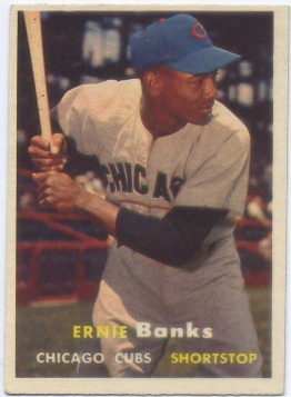 1957 Topps #55 Ernie Banks