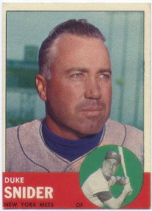 1963 Topps #550 Duke Snider