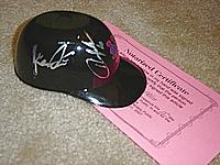 HOWARD JOHNSON and KAZ ISHII autographed New York Mets sundae mini-helmet