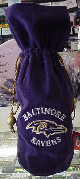 Baltimore Ravens Wine Bottle velvet holder