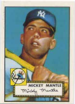 1983 Topps 1952 Reprint #311 M.Mantle
