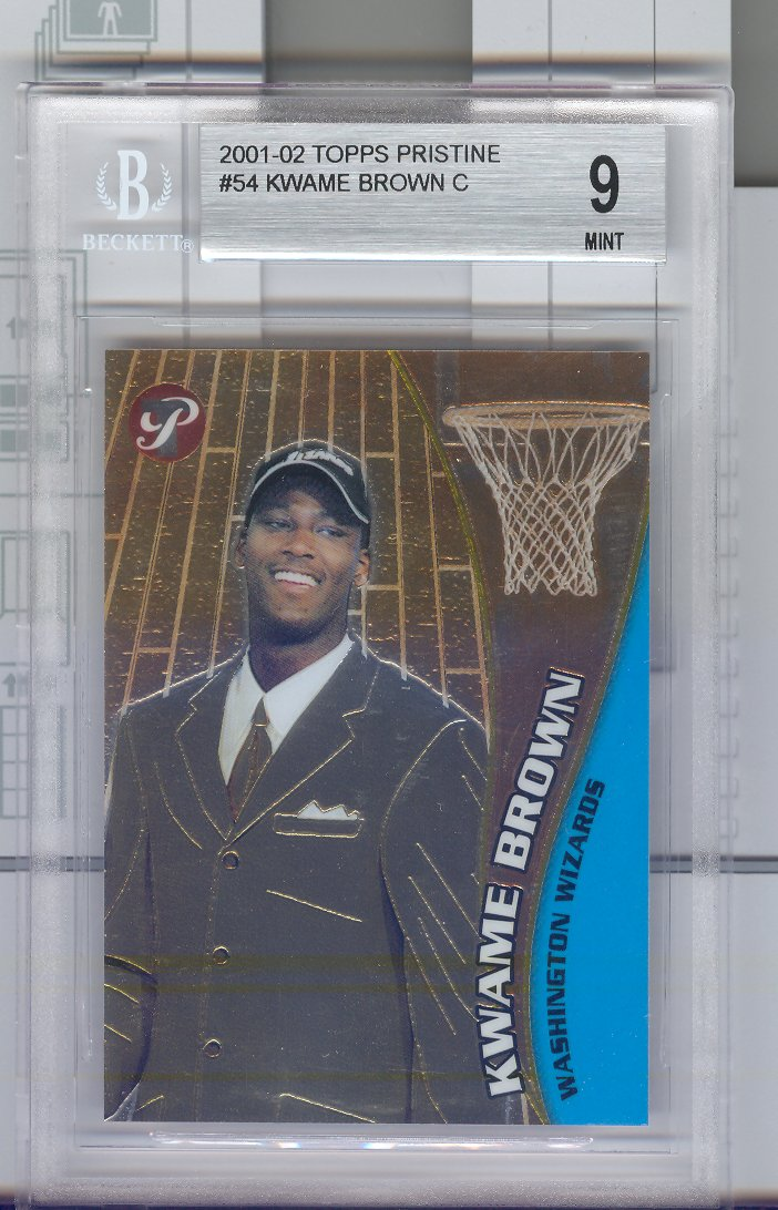 2001-02  Topps Pristine  #54  Kwame Brown   Graded 9 Mint   $30.00