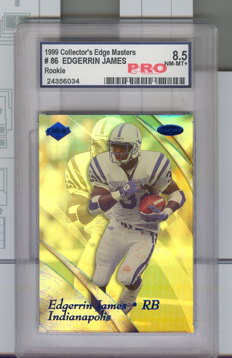 1999 Collector's Edge  Masters #86 Edgerrin James RC   Graded 8.5 NM-MT  $25.00