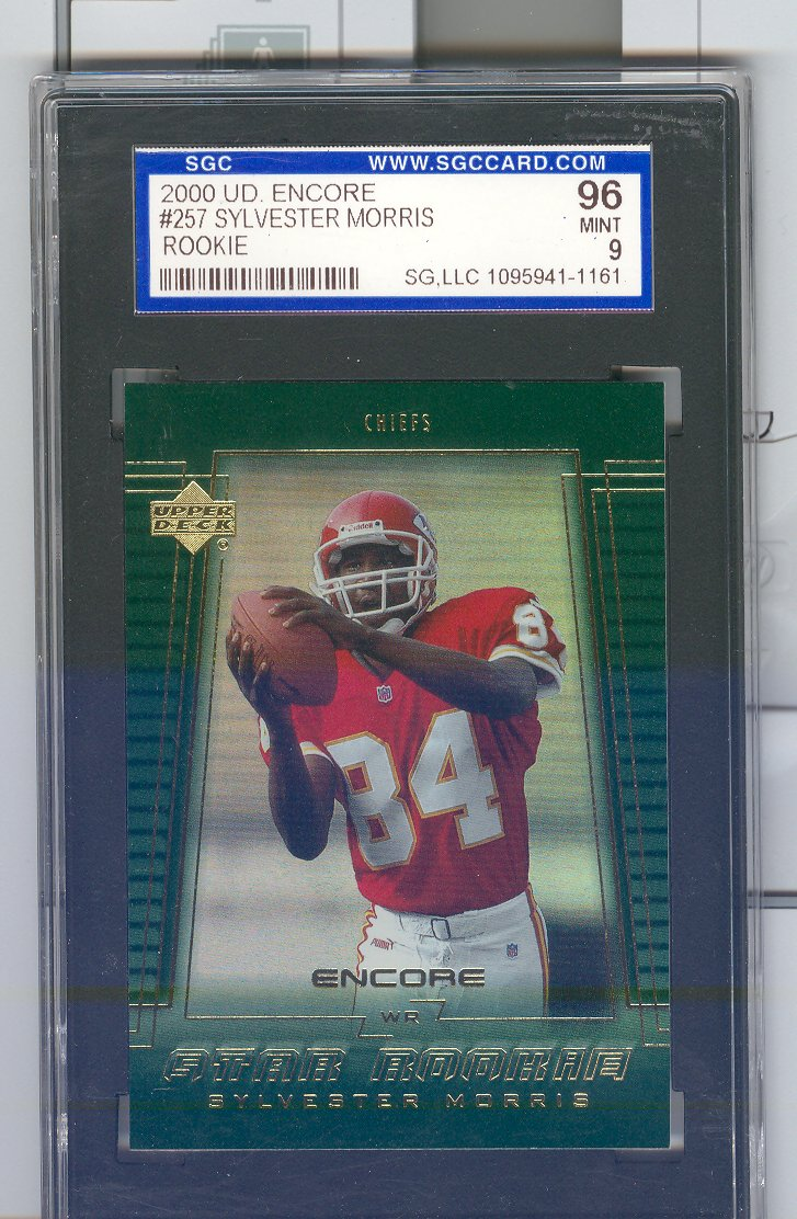 2000   Upper Deck Encore #257  Sylvester Morris RC  Graded Mint 9    $40.00