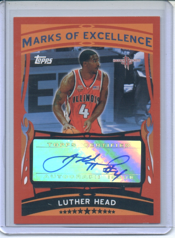 2005-06 Topps Marks of Excellence #LH Luther Head B