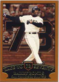 2002 Topps #365 Barry Bonds HR 73
