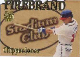 1997 Stadium Club Members Only Parallel #FB8 Chipper Jones