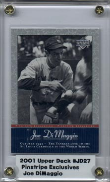 2001 Upper Deck Pinstripe Exclusives DiMaggio #JD27 Joe DiMaggio