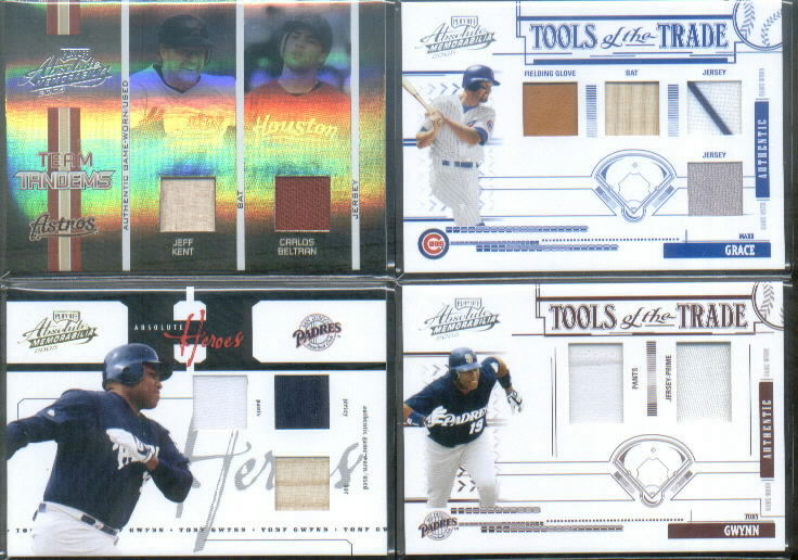 2005 Absolute Memorabilia Tools of the Trade Swatch Double Prime Red #78 Tony Gwynn J-P/50
