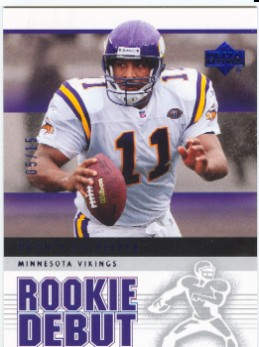 2005 Upper Deck Rookie Debut Blue #54 Daunte Culpepper