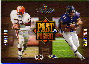 2005 Donruss Classics Past and Present Silver #PP6 Jim Brown/Jamal Lewis