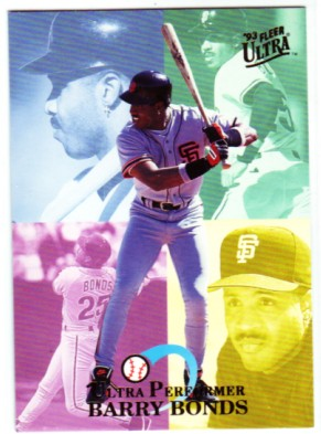 1993 Ultra Performers #1 Barry Bonds