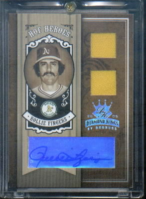 2005 Diamond Kings HOF Heroes Signature Materials Silver #91 Rollie Fingers Jsy-Jsy/50