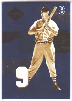 2005 Leaf Limited Threads Jersey Number #154 Ted Williams LGD/25 front image