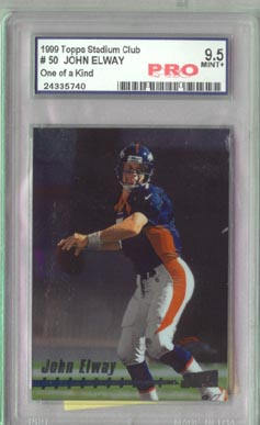 1999 Topps Stadium Club Football #50 JOHN ELWAY #145/150 RARE !! ONE of A Kind!!