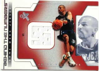 2003-04 E-X Behind the Numbers Game-Used #4 Jason Kidd