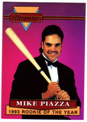 1994 Rembrandt Ultra-Pro Piazza #1 Mike Piazza/(In tux, holding bat)