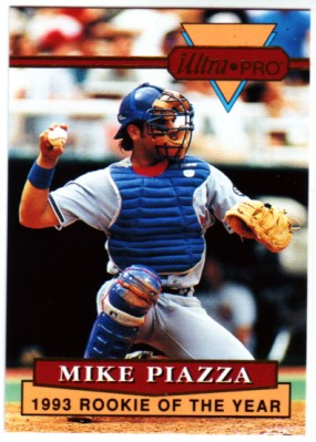 1994 Rembrandt Ultra-Pro Piazza #4 Mike Piazza/(In uniform, preparing/to throw)